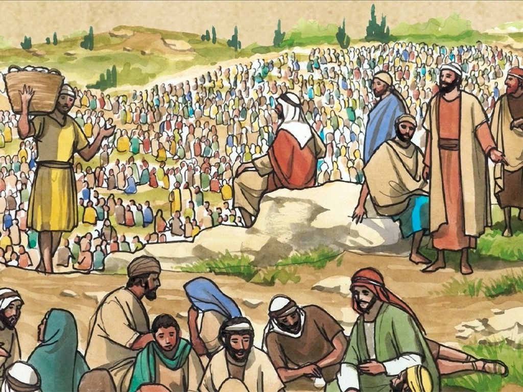 So They Served The Crowd Slide 7 Jesus Bible Class Illustration