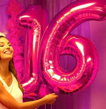 Jumbo 16 Mylar Pink Balloons Sweet 16 Party Store Sweet 16 Party Decorations Pink Sweet 16 Sweet 16 Parties