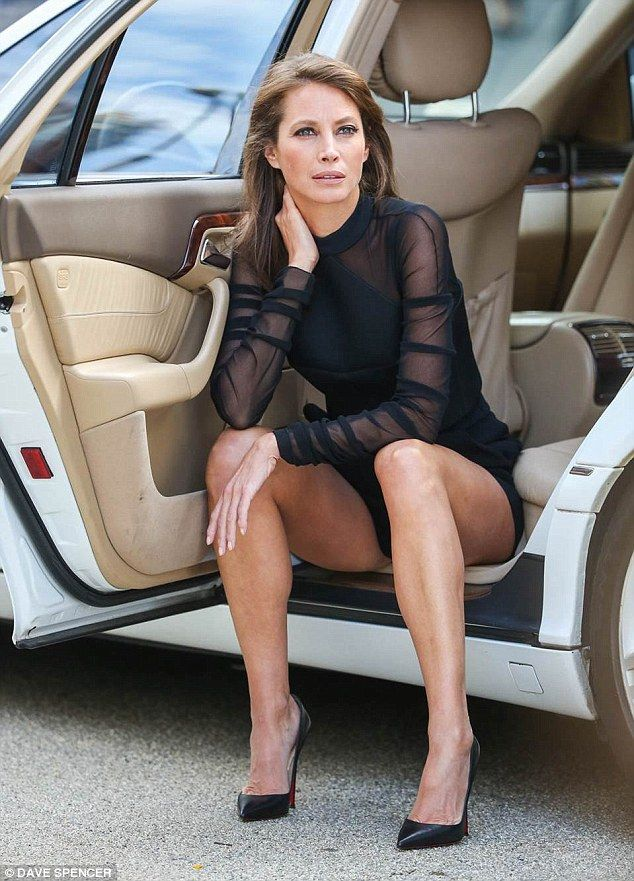 sitting in legs car Sexy