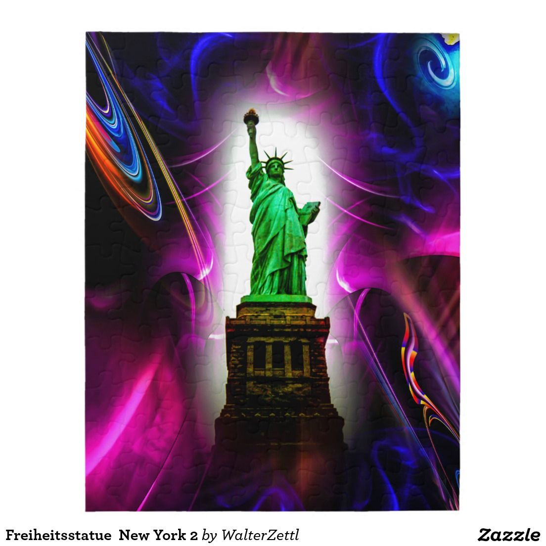 Bilder Poster Kunstdrucke Statue Of Liberty New York 2 Jigsaw Puzzle Zazzle Puzzle