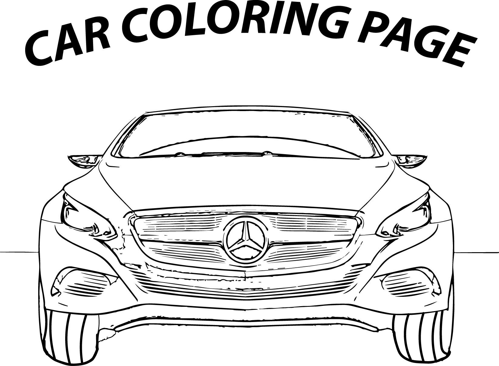 Awesome Mercedes Coloring Page Araba Cizim