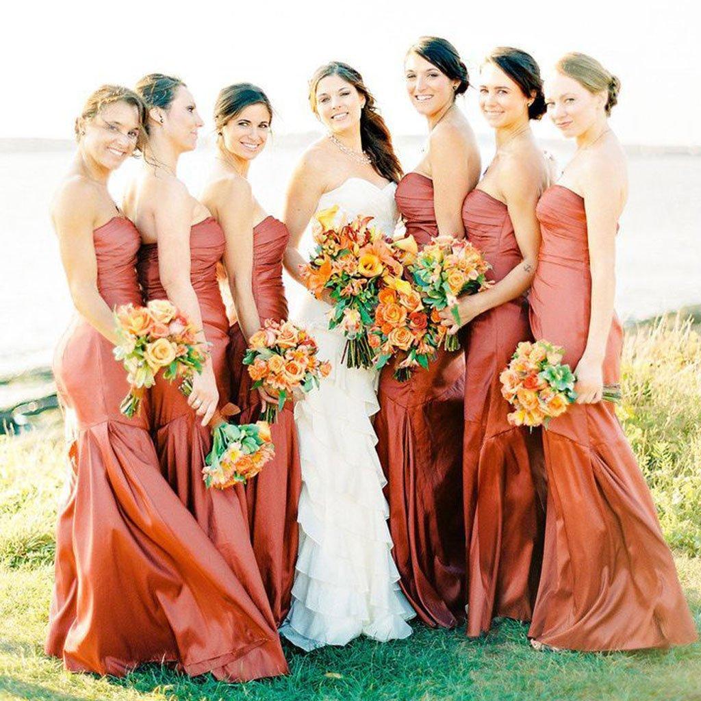 Sweetheart Mermaid Soft Satin Backless Cheap Bridesmaid Dress Fc1830 In 2021 Orange Bridesmaid Dresses Orange Bridesmaid Fall Wedding Bridesmaids [ 1024 x 1024 Pixel ]