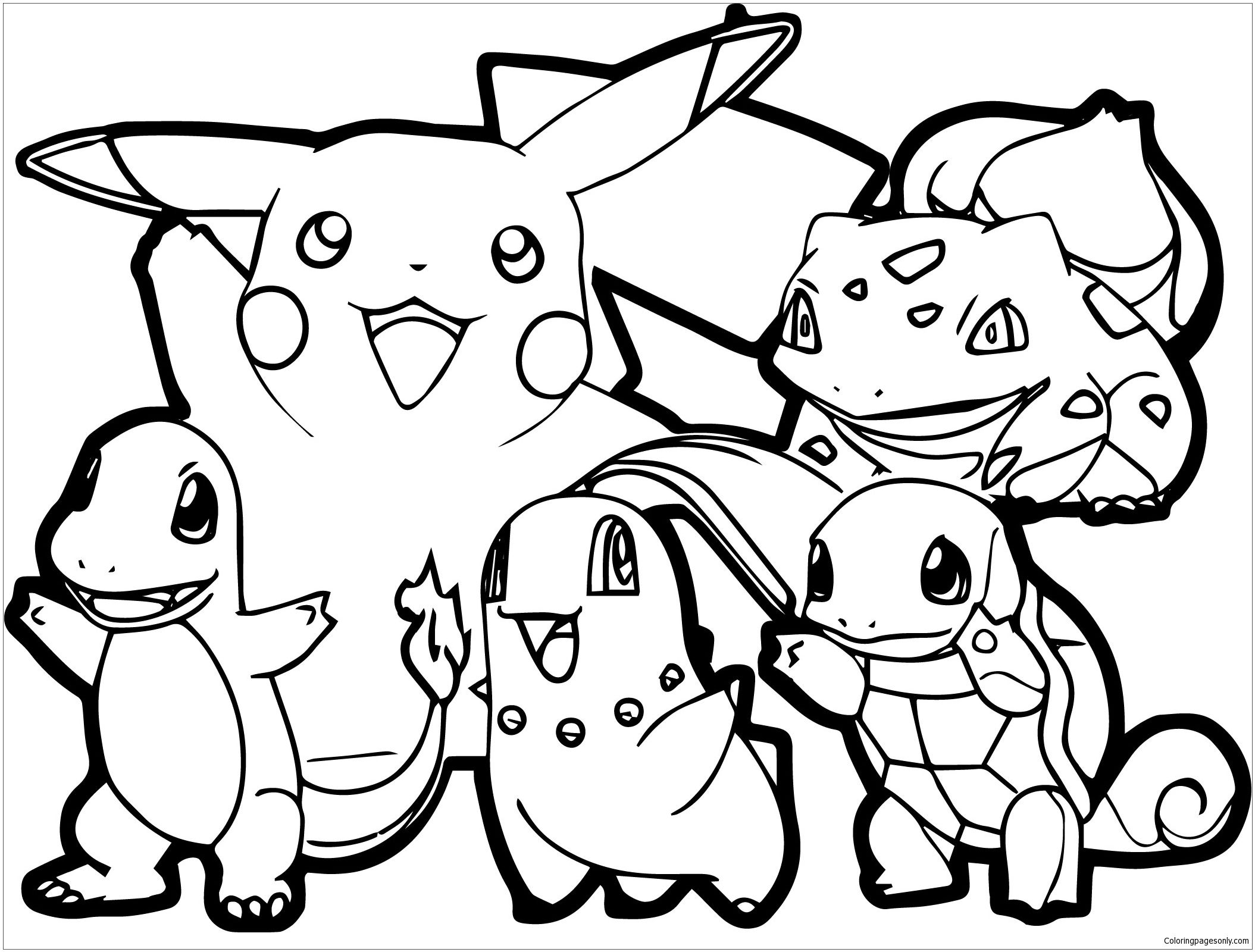 Adult Pokemon Coloring Page Http Coloringpagesonly Com Pages