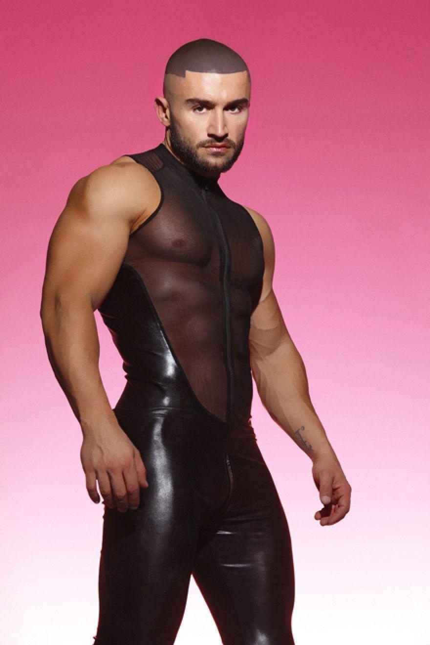 V-TAPER SUIT - Suits | SLICK IT UP: Spandex Fetish Gear for Men ...