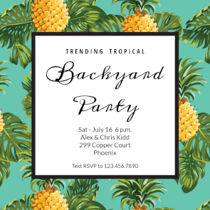 Pineapple print free printable party invitation template pineapple print free printable party invitation template greetings island stopboris Images