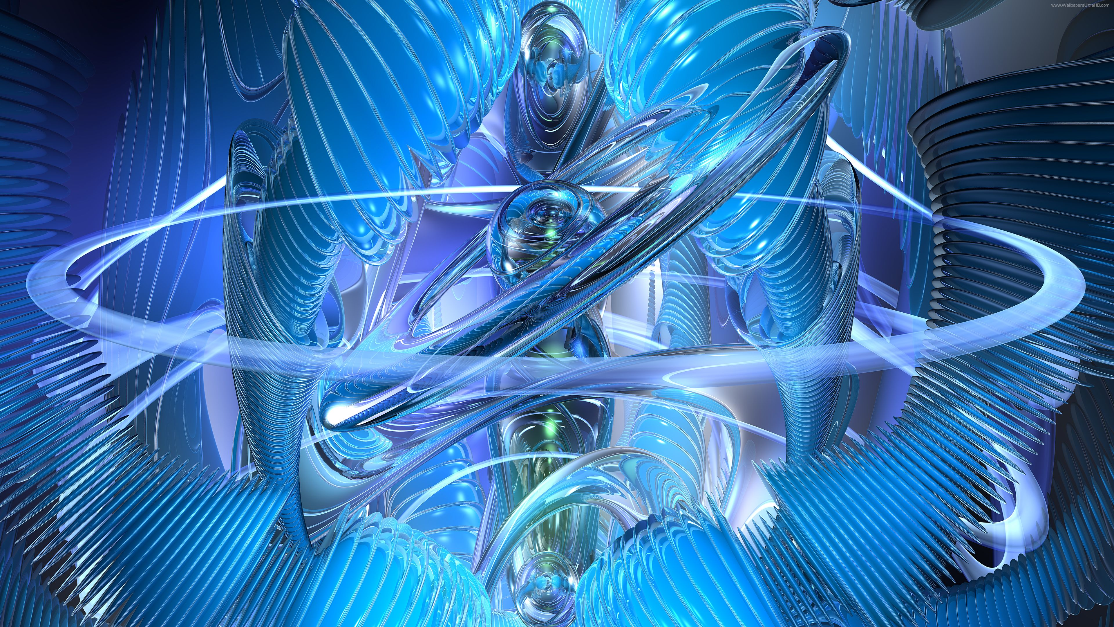 Blue Crystal Abstract Ultra HD