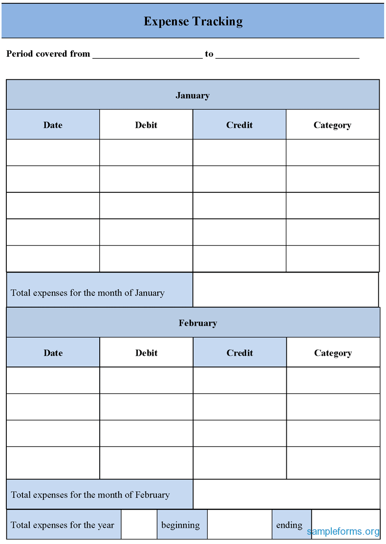 Expense Tracking Form Expense Accounting Form Good For Rental
