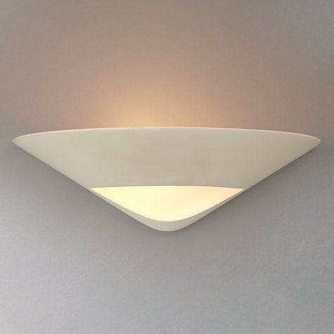 Wall Uplighter Lamps : Tessa Plaster and Glass Wall Uplighter Online, Glass walls and X...