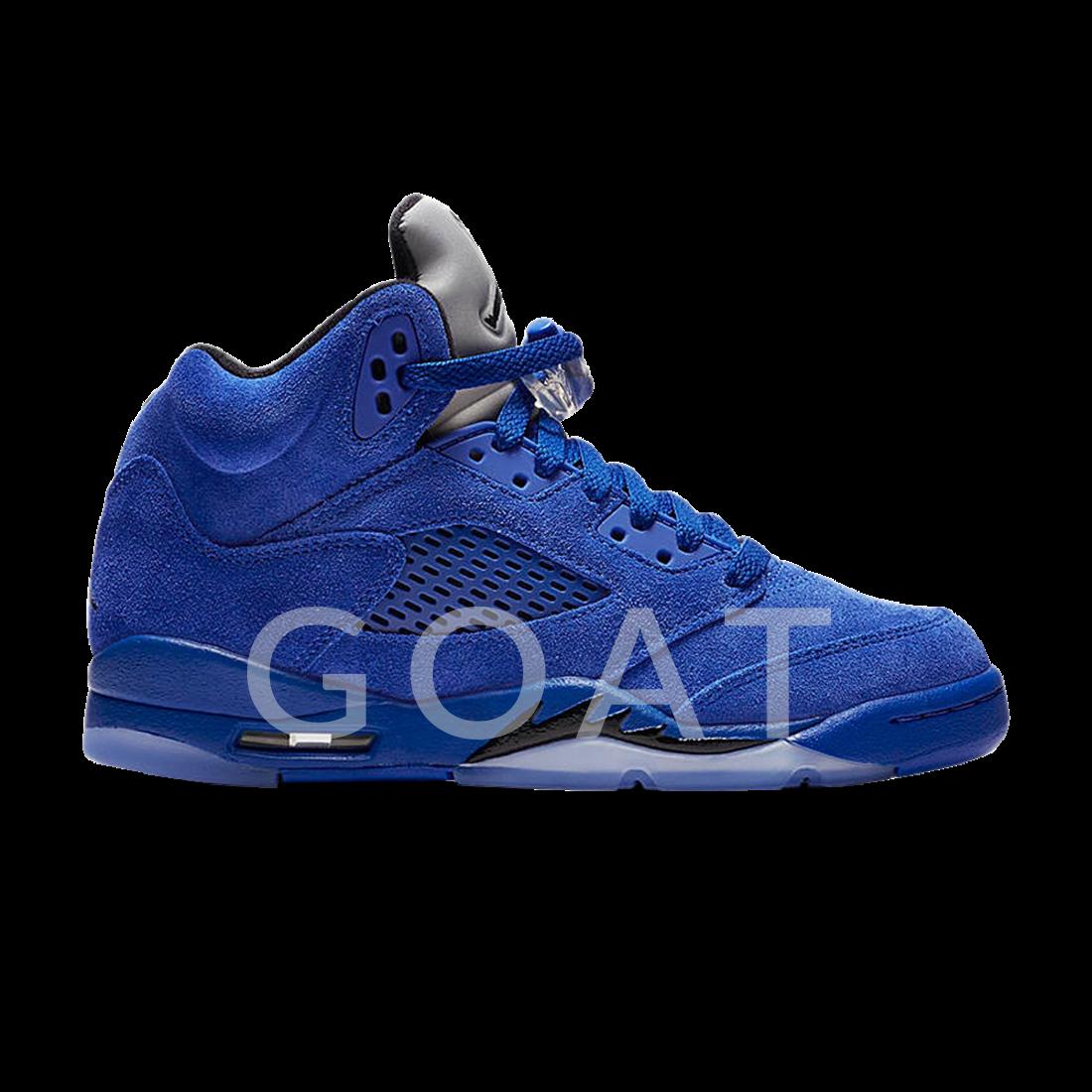 new concept f6ccf a0c05 Air Jordan 5 Retro GS  Blue Suede  - Air Jordan - 440888 401 - game  royal black-game royal   GOAT