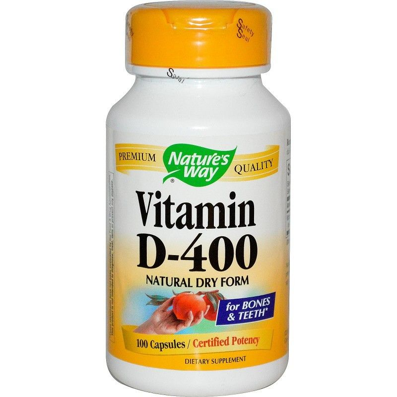 Natures Way Vitamin D 400 Natural Dry Form 100 Capsules
