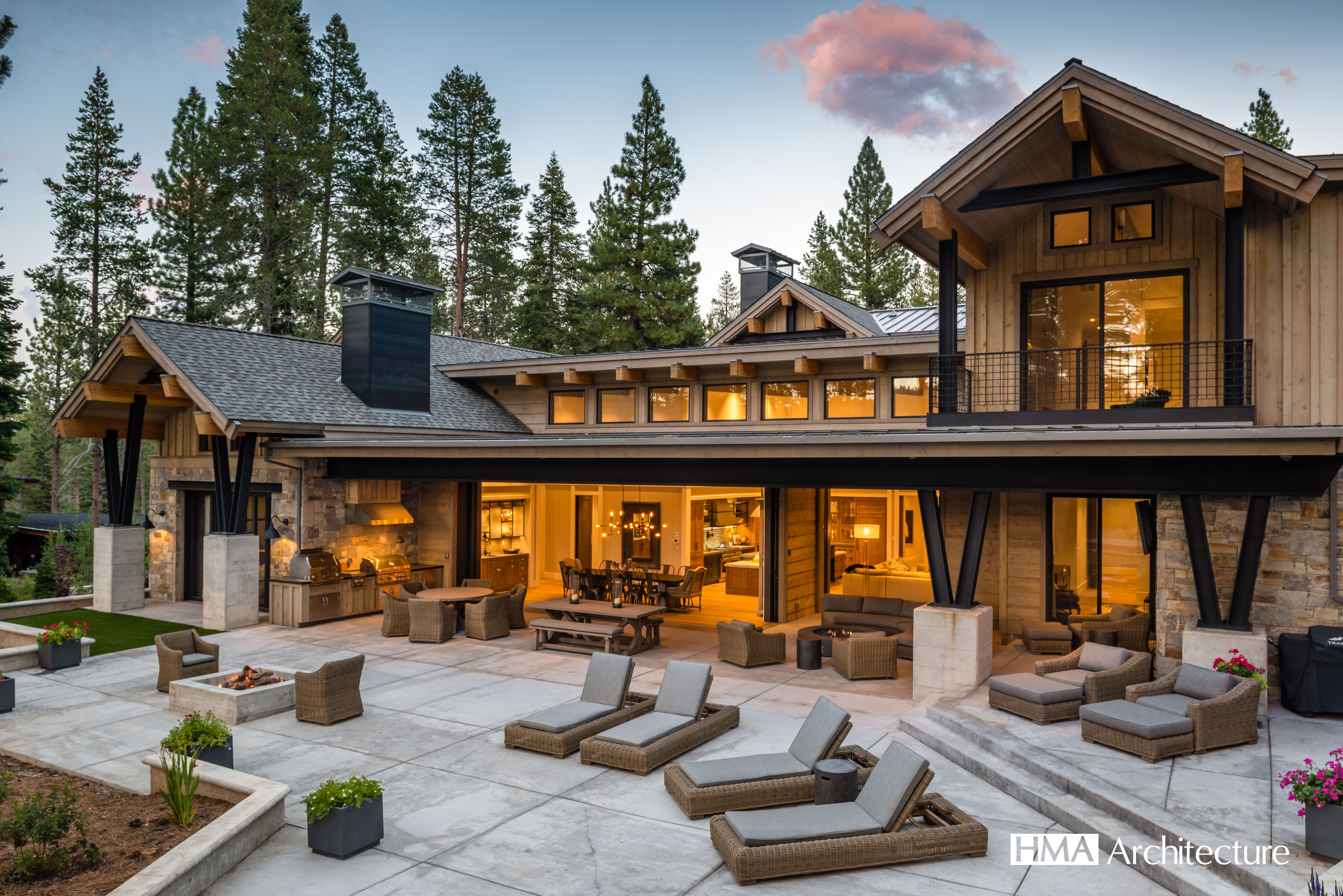 Rustic Home Mountain Home Mountain Modern Home In Truckee By Hma