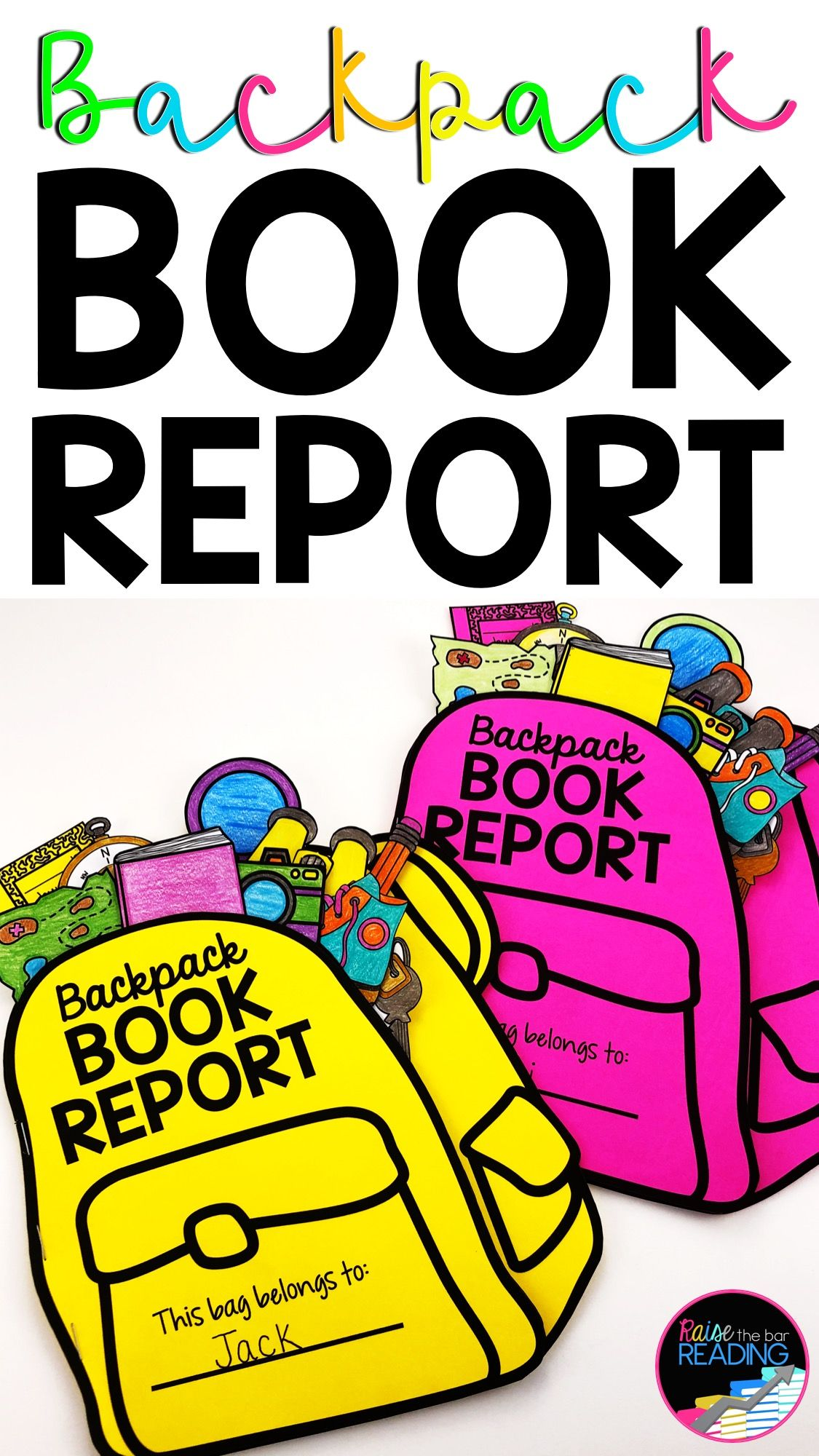 Backpack Book Report in 2020 Book report, Book report