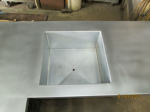 zink sink sink zinc table table inspiration on zink outdoor kitchen id=95646
