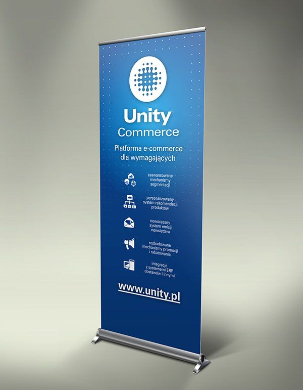 Unity commerce roll up banner on behance roll up banner for Kakemono stand