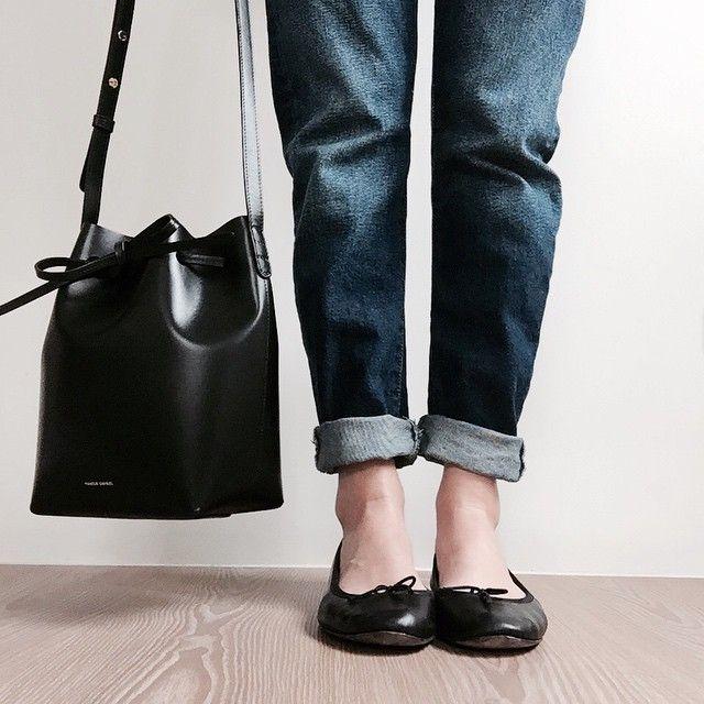 Mansur Gavriel bag + Repetto flats