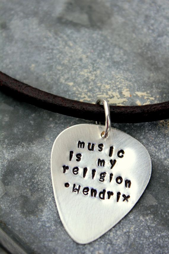man gift guitar pick necklace jimi hendrix by whiteliliedesigns my little brother. Black Bedroom Furniture Sets. Home Design Ideas