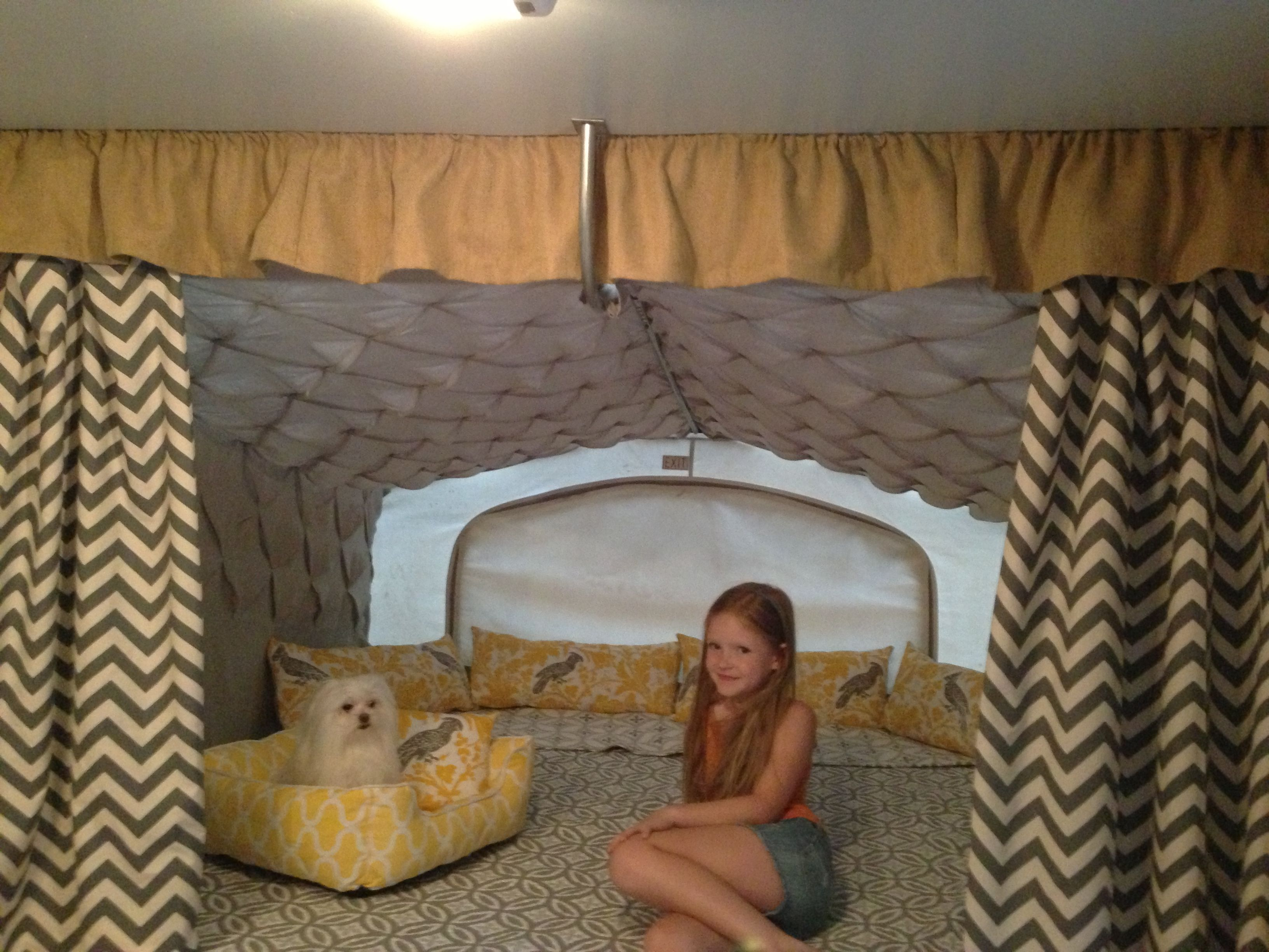pop up camper make over king size bed pop up camper pinterest
