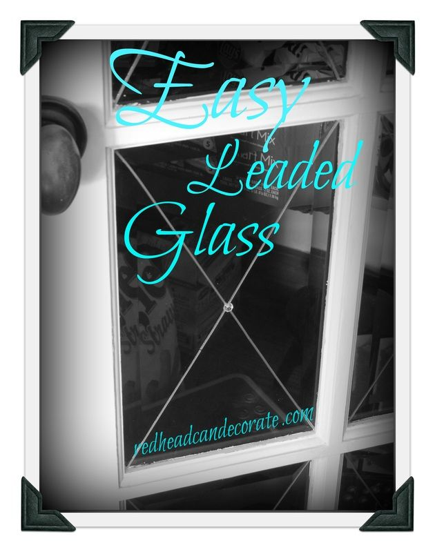 My Way Leaded Glass French Door Diy Paint Wood Furniture