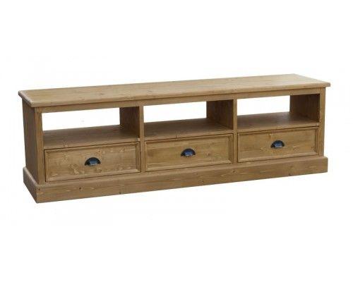 meuble-tv-hifi-en-pin-massif-toutes-finitionsjpg (500×400) Pièce - wohnzimmermbel landhausstil weiss