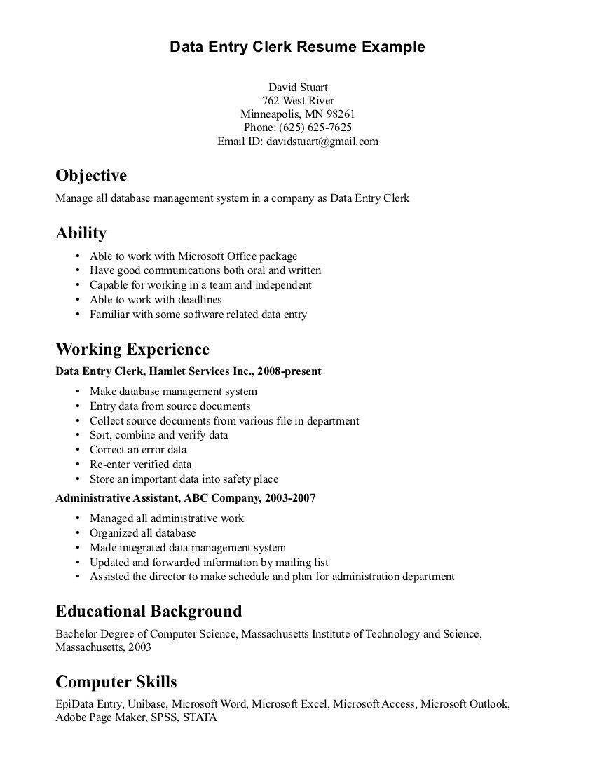 Sample Resume For Office Job Medical Manager Secretary Description