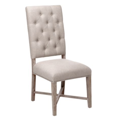 Rencourt Side Chair Linen W White Wash Legs From Z