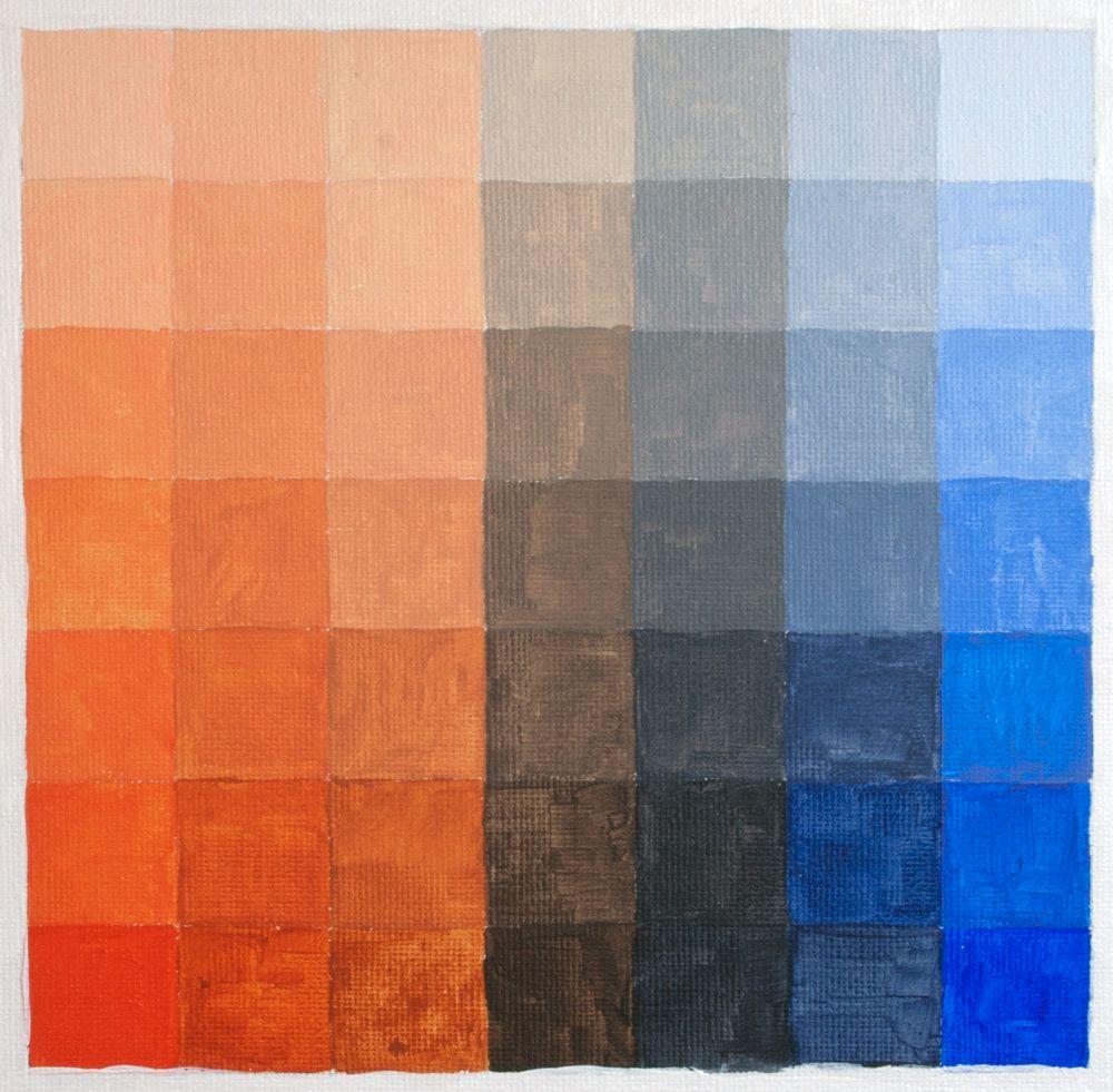 Colour Chart Complimentary Blue Orange Blue Color Schemes Orange Color Palettes Orange Color Combinations