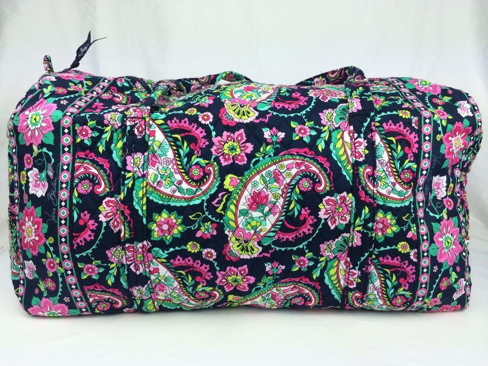 New Vera Bradley Large Duffel Petal Paisley Pattern Carry On Bag   VeraBradley c6f19db2ae