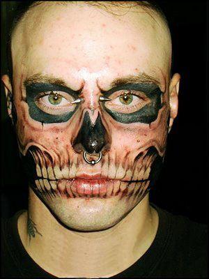 Deathman Weird Tattoos Face Tattoos Funny Tattoos