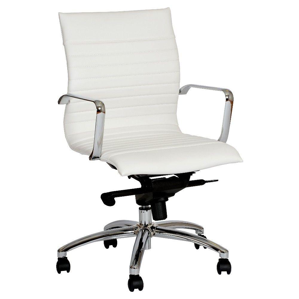 Hannah contemporary office chair whitechrome armen