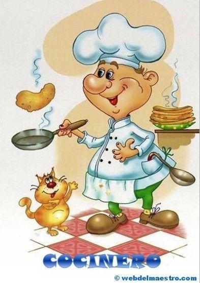Oficios carteles ilustraciones pinterest material for Material para chef