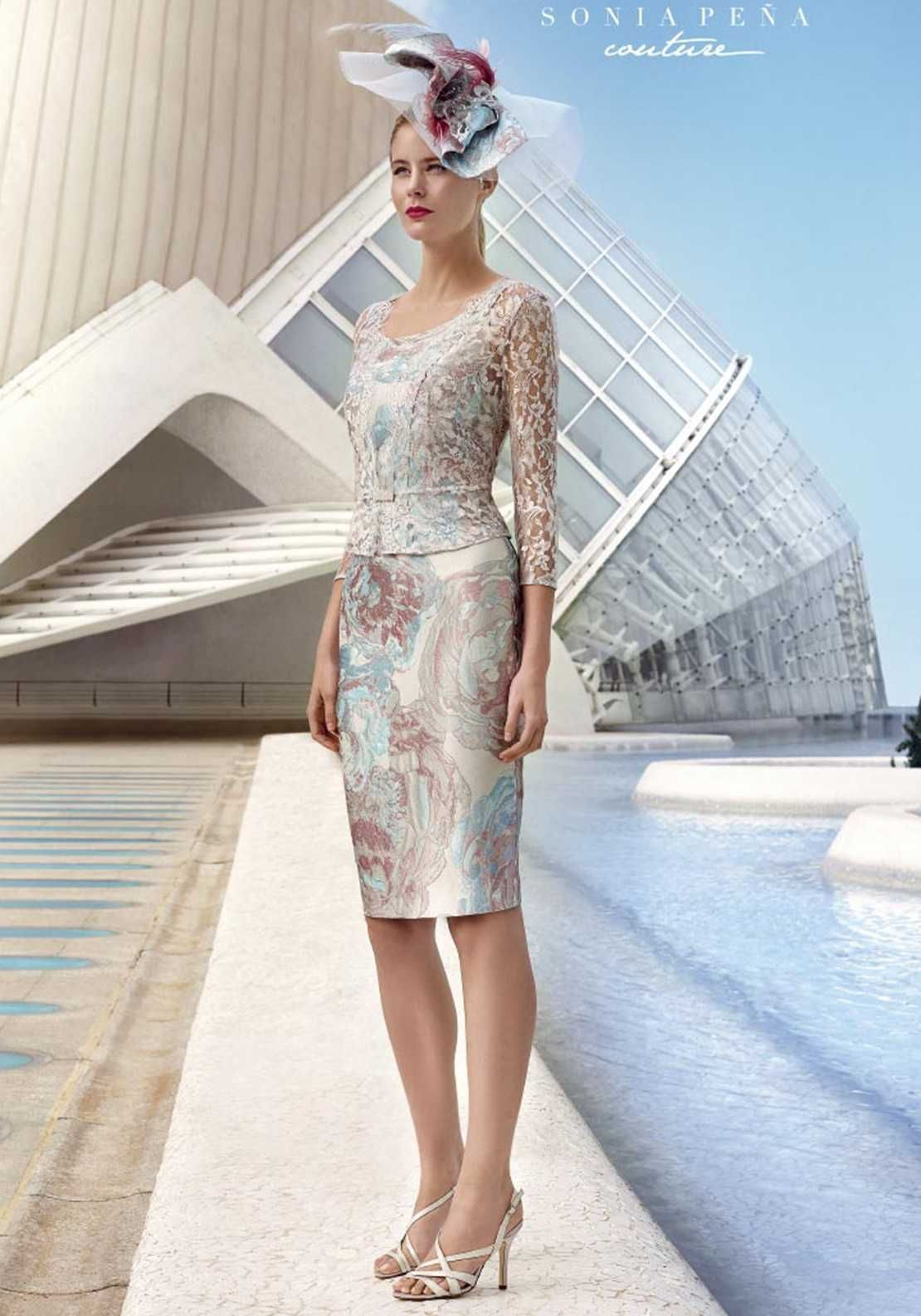 official photos exquisite style hot sales Factory Outlet Sonia Pena Floral Dress & Lace Jacket, Silver ...