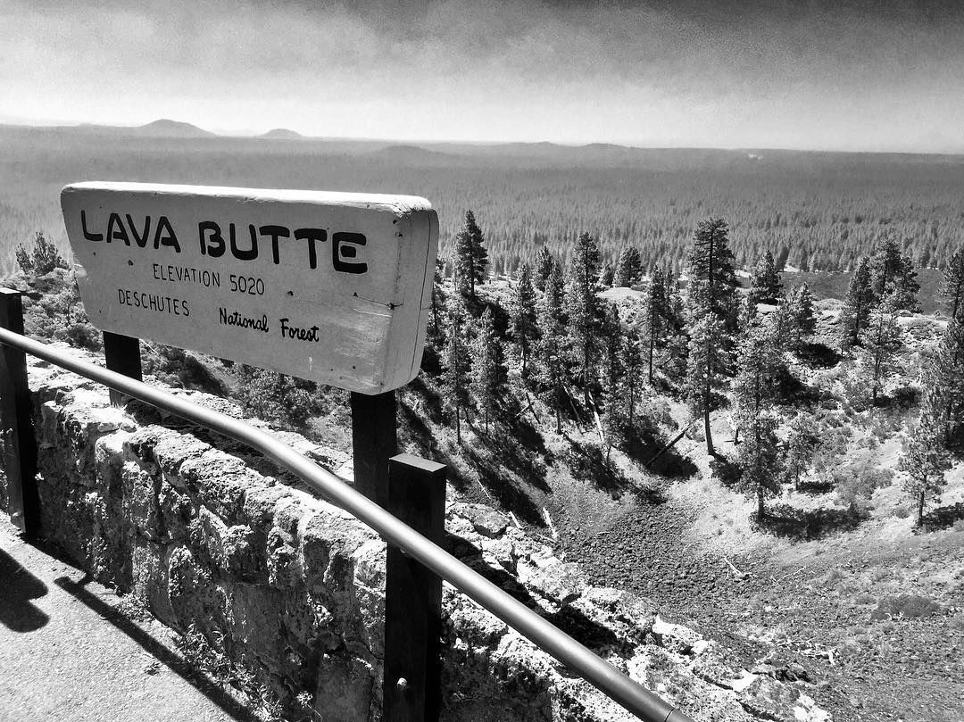 Newberry National Volcanic Monument Lava Butte Bend OR Deschutes - What is my sea level elevation