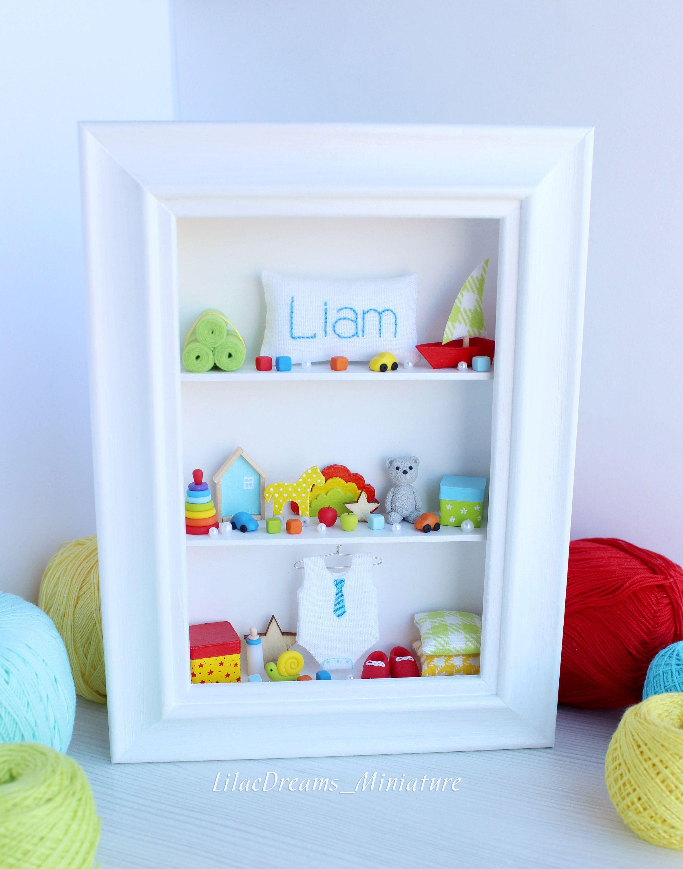 Rainbow baby room wall decor New Baby Boy Birth Gift Liam ...