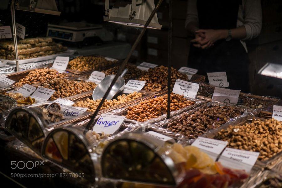 http://500px.com/photo/187478065 Chrismas Market: Nuts by Octal -I do love some honey roast peanuts but for Christmas it has to be chocolate covered brazil nuts. Octal   Twitter   facebook   Instagram   flickr. Tags: industryfoodshopfruitdryshoppingbazaarstallstocksellmarketplaceboothcommercepresentationChristmasMarketGlasgowSaleChristmas Market