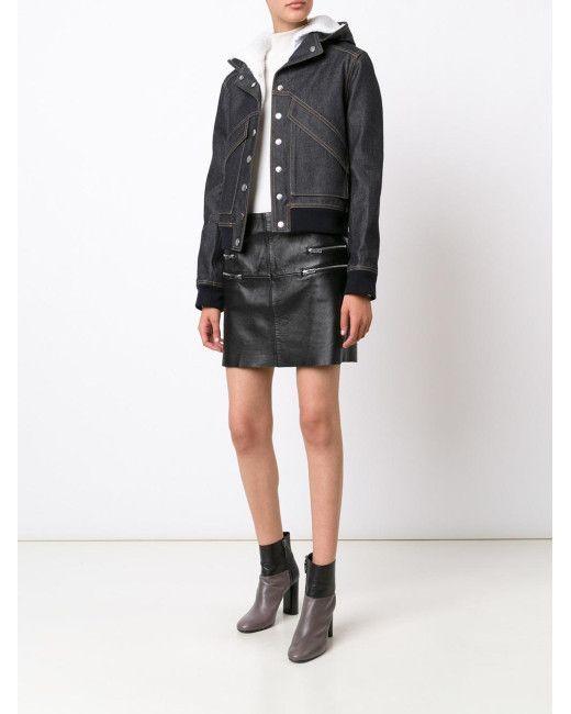 Courreges | Blue Denim Hooded Jacket | Lyst