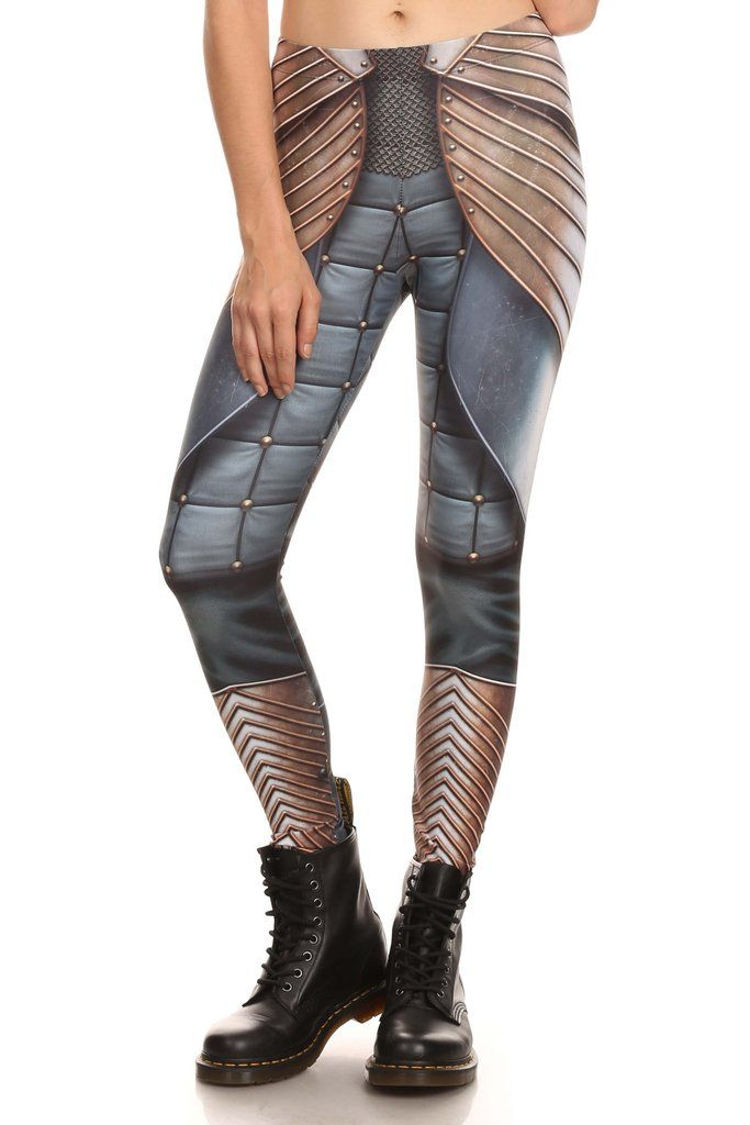 """Deliciously fun and tacky enough to inject excitement into my day. """"Knight Maiden Leggings - POPRAGEOUS"""""""