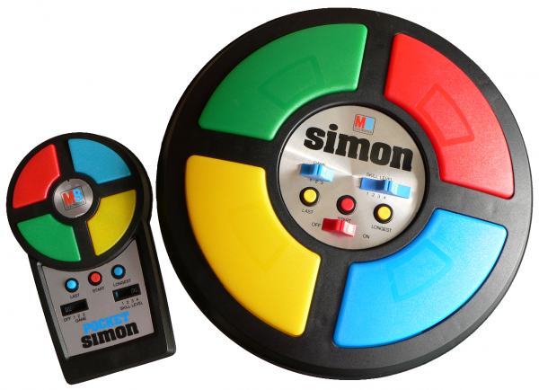 Simon Game 1970s1980s table top and handheld why