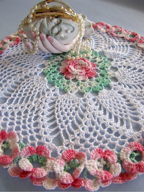 Pdf Crochet Pattern Enchanting Easter Basket Doily Modelos De