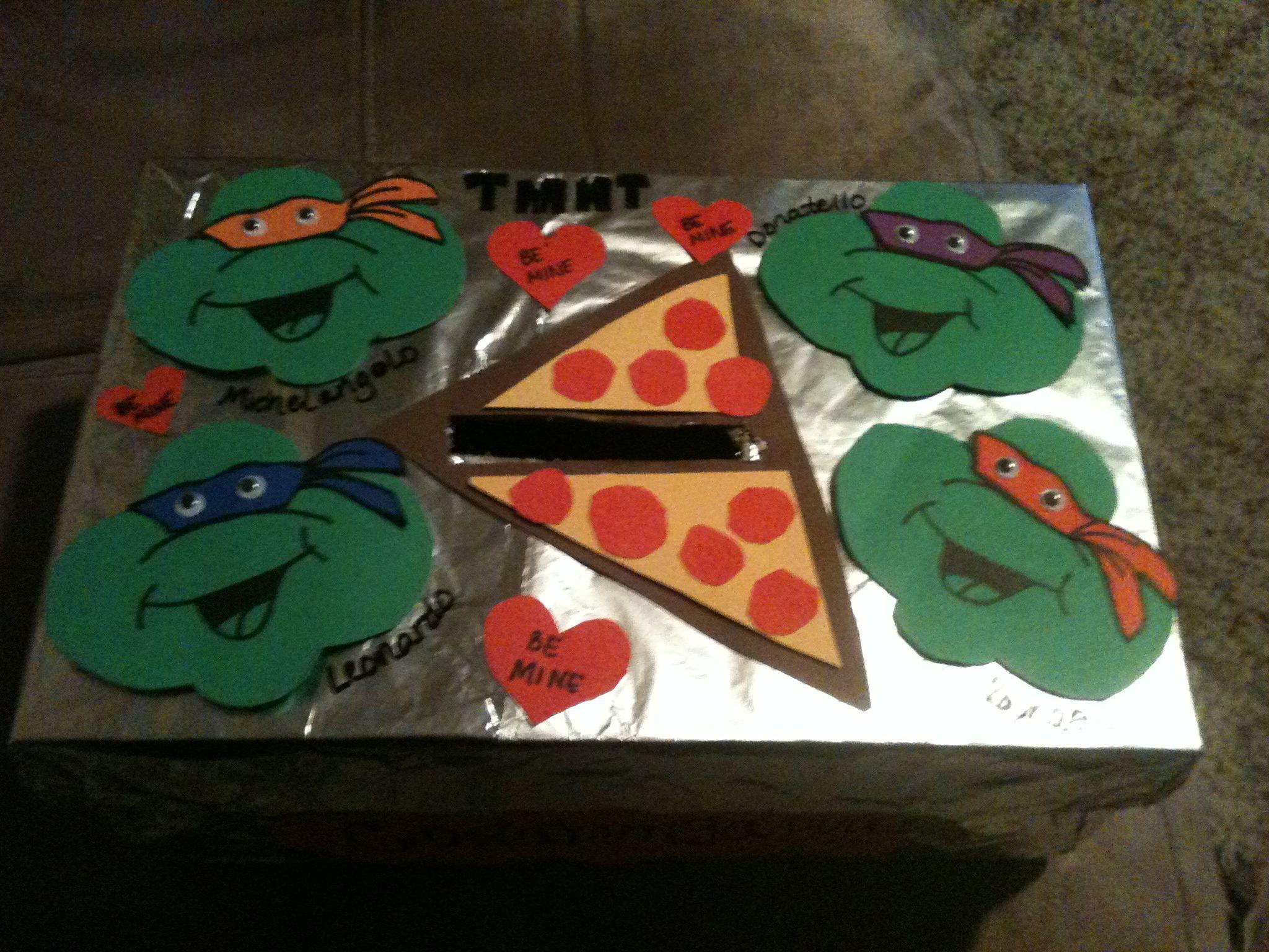 Ethanu0027s Teenage Mutant Ninja Turtle Valentine Box