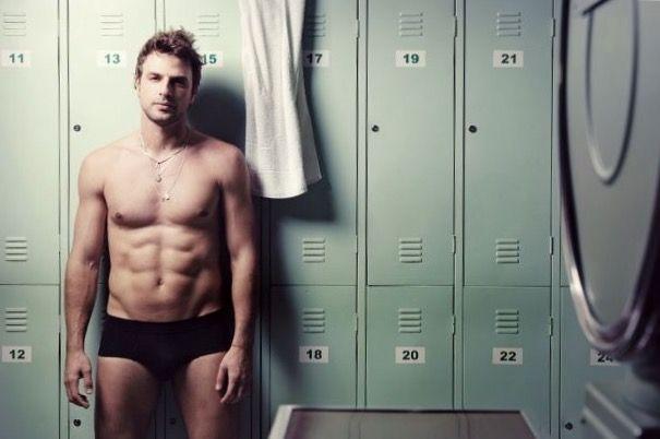 Brazilian males shower