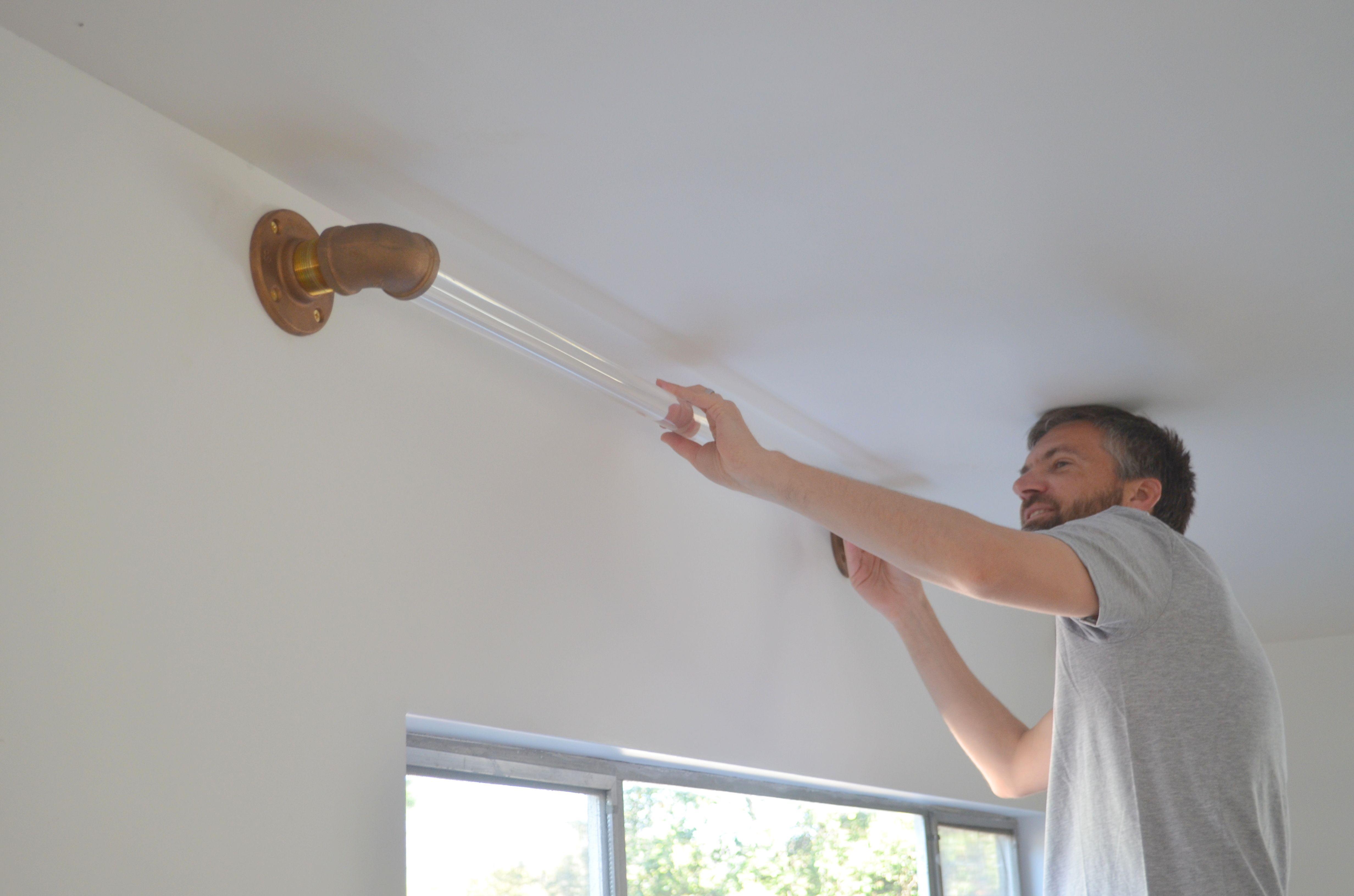 DIY Lucite Curtain Rod