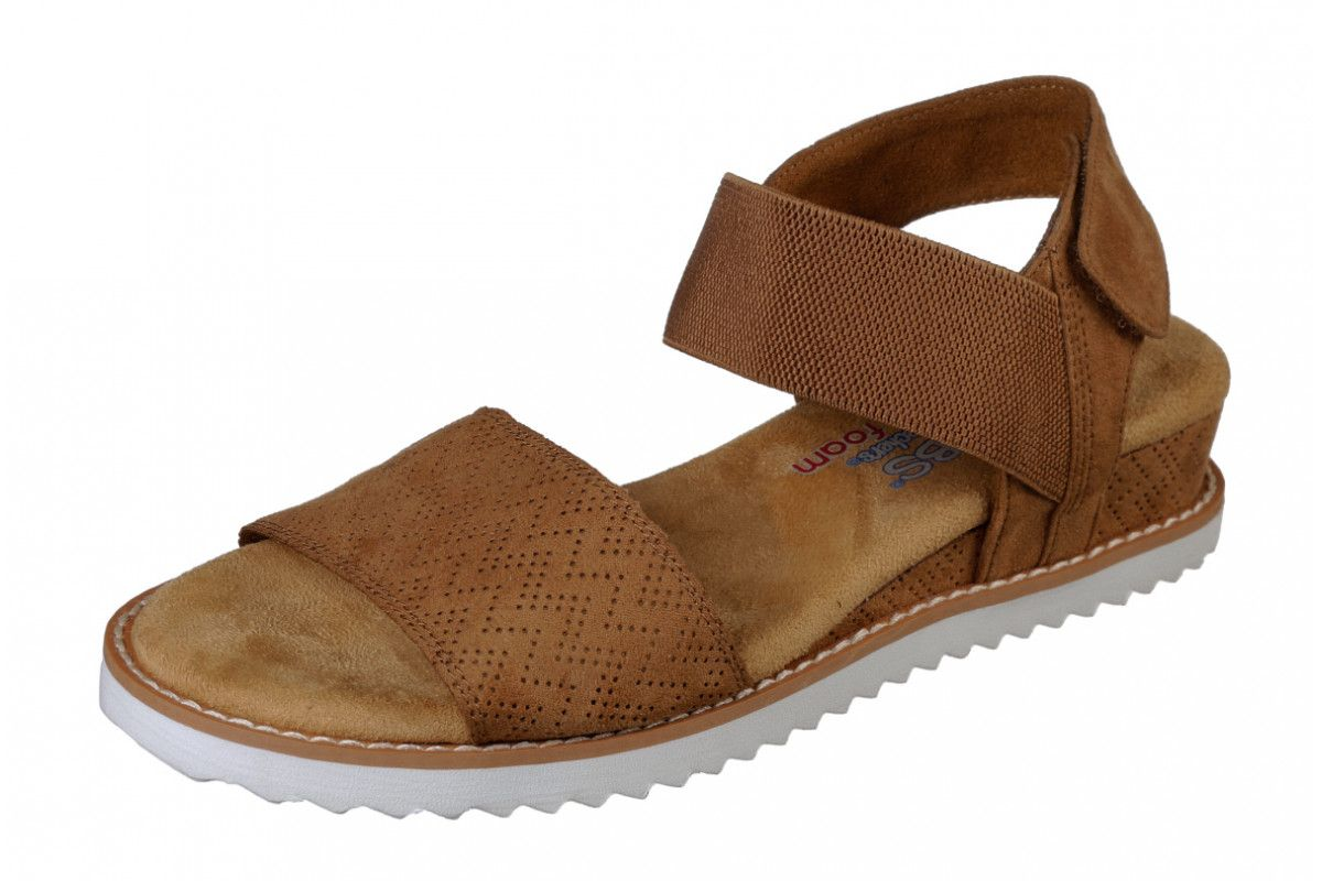 0dcc3c222a1e Skechers Bobs Desert Kiss Chestnut Brown Wedge Heel Memory Foam Comfort  Sandals