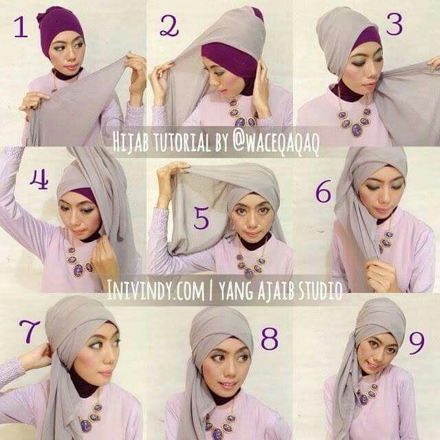 Hijab Segitiga Hijab Tutorial Head Scarf Styles Hijab