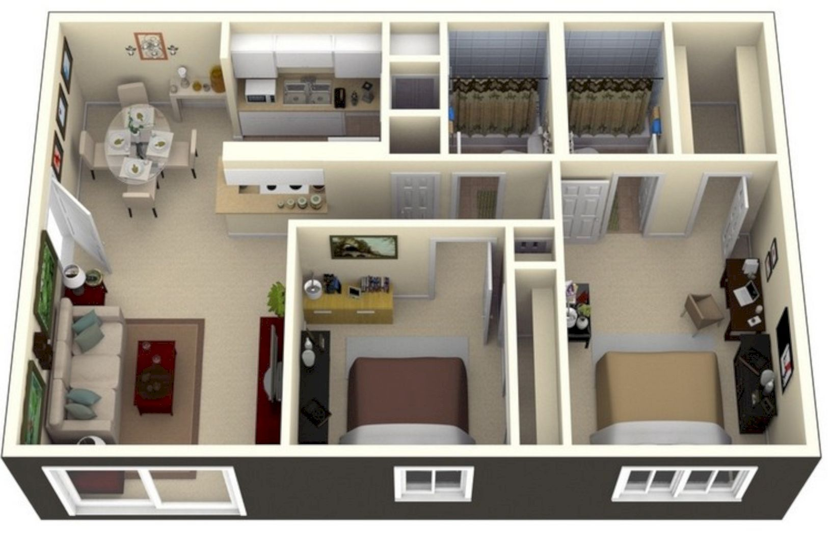 Why Do We Need 3d House Plan Before Starting The Project Small House Design Small House Plans Apartment Layout