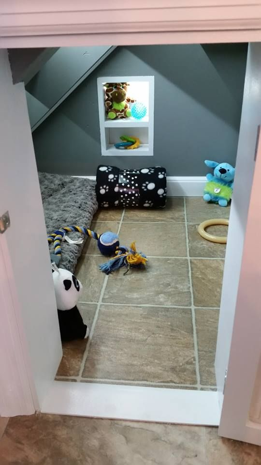 Under-stairs dog kennel #2 | Home Sweet Home | Puppy room
