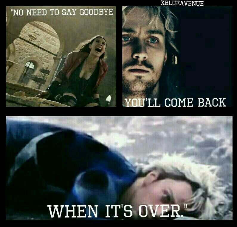 no need to say goodbye you ll come back when it s over marvel
