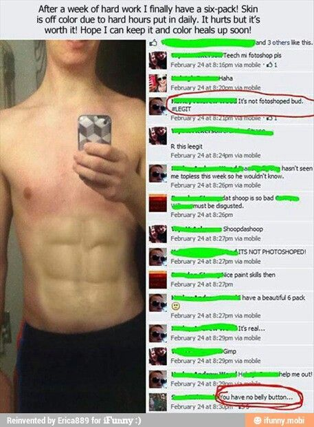 Can You Get Abs From Laughing A Lot This Picture Funny Photoshop Funny Photoshop Fail