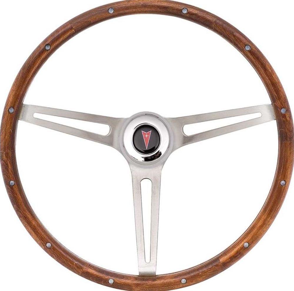 1969 94 3 Spoke Brushed 15 Walnut Steering Wheel Pontiac Arrowhead Firebird Gto Oer Pontiac Steering Wheel Gto