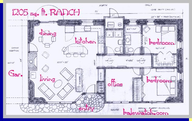 Strawbale Ranch Plan Straw Bale House House Plans Off Grid House