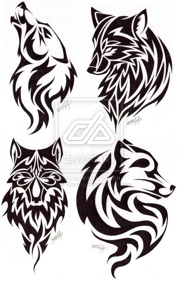 Wolf Head Tattoos By The Blackwolf Deviantart Com On Deviantart Tribal Tattoos Wolf Tattoos Tribal Wolf Tattoo